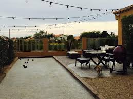 Outdoor Court Lighting by Bocce Ball Courts Grow Land Llc