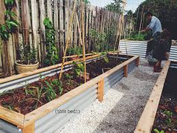 ohdeardrea our raised beds easy metal u0026 wood garden bed how to