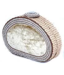designer clutches buy favola designer clutch handmade jute and velvet with