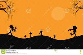 halloween scary backgrounds halloween scary zombie silhouette stock vector image 73198831