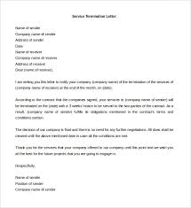 letter of termination of services free termination letter template 14 free word documents