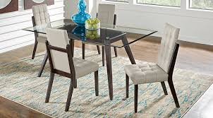 Cappuccino Dining Room Furniture Colonia Hills Cappuccino 5 Pc Dining Set Dining Room Sets Dark Wood