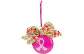 decoart pink ribbon ornament a c