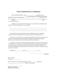 What Is A Special Power Of Attorney by Free Texas Limited Power Of Attorney Form Pdf Word Eforms