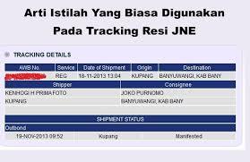 Jne Tracking Inilah Arti Manifested On Transit On Process Di Jne Barang