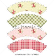 cupcake wrapper template stock images royalty free images