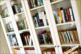Bookshelves Glass Doors by Solid Wood Bookcases With Glass Doors