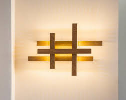 unique wood wall modern wall sconce etsy