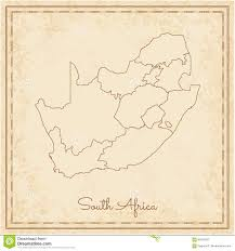 Africa Regions Map by South Africa Region Map Stilyzed Old Pirate Stock Vector Image
