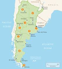 on a map map of argentina argentina regions guides guides