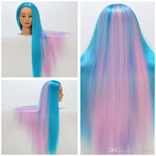 2017 cosmetology mannequin heads colorful synthetic hair training