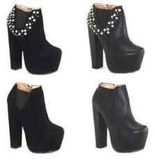 womens boots uk ebay chelsea boots high block heel booties platform shoes boots