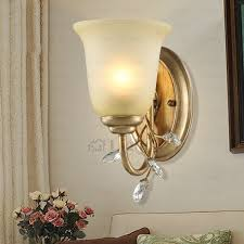 Bronze Wall Sconce Antique Crystal Uplight Brushed Bronze Wall Sconce