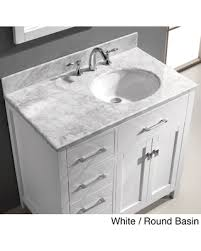 bathroom vanity with sink on right side spectacular deal on virtu usa caroline parkway 36 inch single sink