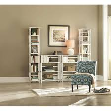 home decorators collection white folding stacking open bookcase