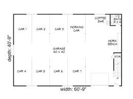 8 car garage garage plans with loft 8 car garage loft plan 062g 0038 at