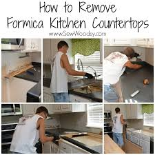Formica Kitchen Countertops How To Remove Formica Kitchen Countertops Sew Woodsy