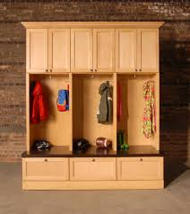 custom diy mudroom cubby design with locker hooks and drawer shoe