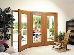 Wood Patio French Doors - wood framed patio doors add style and are great for insulating too