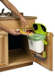 kitchen compost caddy under sink mounted compost system with