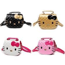 cartoon design cute kitty quilt handbag tote bag sling