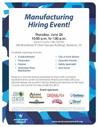 Job Fair Resume by Worksmart Network Sauk County Manufacturing Job Fair Set For
