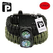 paracord bracelet whistle fire images Tech p survival gear paracord bracelet compass fire starter jpg