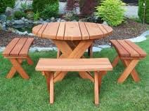 Redwood Patio Table Gold Hill Redwood Picnic Tables Outdoor Patio Furniture