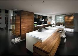 cuisine contemporaine cuisine contemporaine en bois cuisine design blanche et bois avec