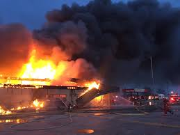 Indiana travel plaza images Damage from 3 alarm fire at flying j truck stop estimated at 4 jpg