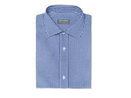 navy gingham wrinkle free shirt