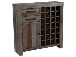 Classic Home Omni Storm Transitional Reclaimed Pine Wood Wine - Classic home furniture reclaimed wood