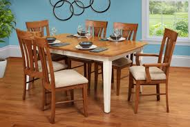 amish table and chairs burress oak collections burress furniture