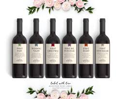 bridal shower wine basket milestone wedding gift wine labels fall wedding