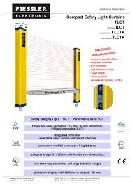 ilct safety light curtains with blanking features category 2
