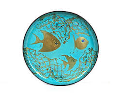 modern fish ring holder images Copper enamel etsy jpg