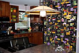 glass tiles for kitchen backsplashes new york residence multi colored dichroic glass tile kitchen