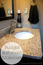 Bathroom Makeover Ideas On A Budget Bathroom Makeover