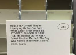 paint colours given hilarious and honest names