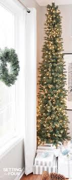 led pre lit slim tree lights decoration