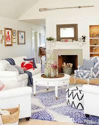 casual elegant coastal nautical living room with fun accents sea