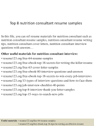 top 8 nutrition consultant resume samples 1 638 jpg cb u003d1431524861