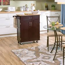 furniture brown kitchen island lowes with wheels and towel bar