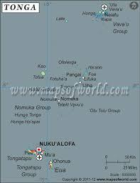tonga map latitude and longitude map