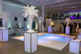Chandelier Centerpieces Light Up Chandelier Centerpieces With White Feather Toppers For