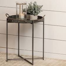 removable tray top table check out galvanized tray top accent table from shades of light