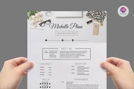 elegant resume template microsoft word elegant resume template by chic templates thehungryjpeg com