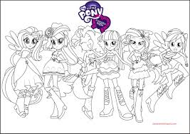 equestria girls rainbow rocks coloring page my little pony