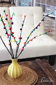 Decorative Branches For Vases Uk Pom Pom Branches Sticks Twigs Pom Poms Vase Craft And Pom