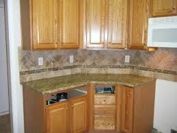 Kitchens With Backsplash Tiles by Furniture Appealing Kitchen Design With Cabinets Plus Santa